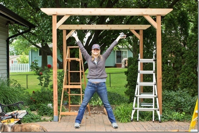Completed 2 Crossbeams on pergola project