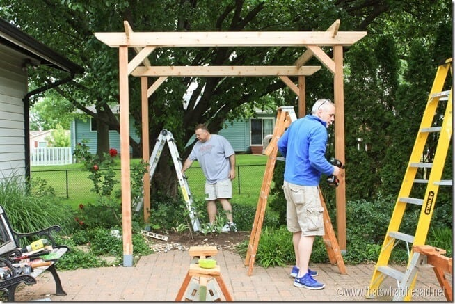 Completing the Square of the pergola