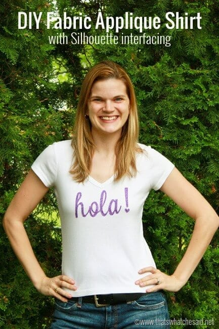 Hola Fabric Applique Shirt + Free Cut file