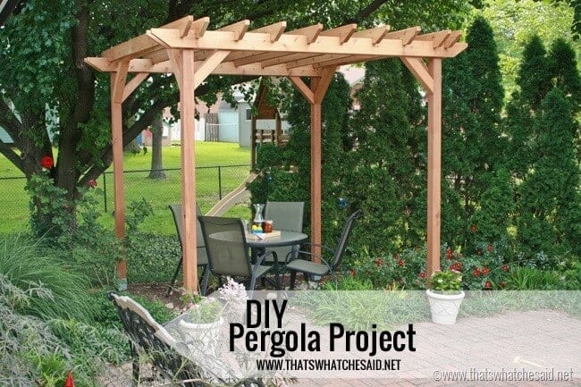 Weekend DIY Pergola Project - That's What {Che} Said...