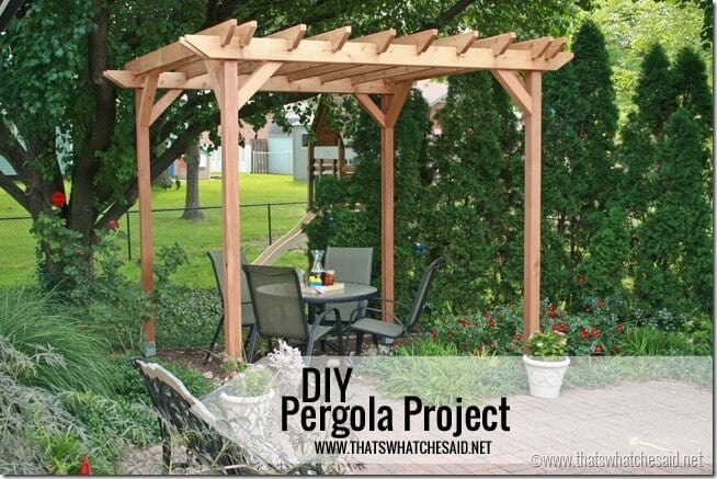 DIY Pergola Project at thatswhatchesaid.net