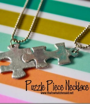 Puzzle Piece Necklace tutorial. Great for best friends, mother/child and autism awareness.