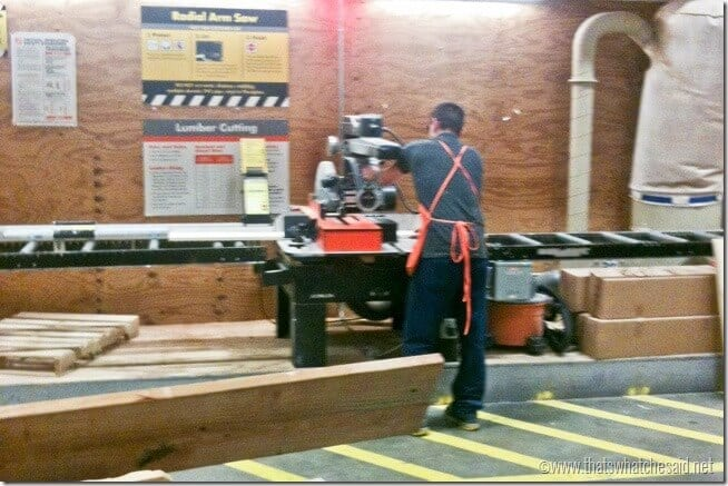 Lumber Cutting at The Home Depot