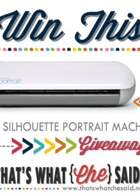 Silhouette Portrait Giveaway + 40% off with Code CHE