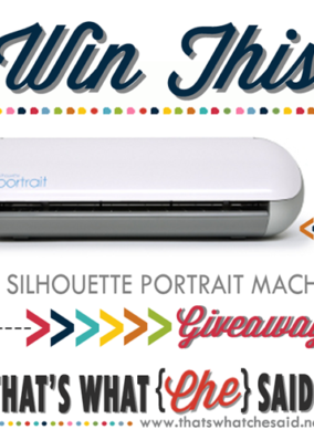 Silhouette Portrait Giveaway + Heat Transfer Deals