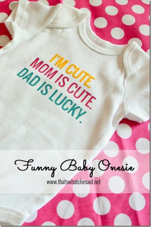 Funny Baby Onesie Using Heat Transfer
