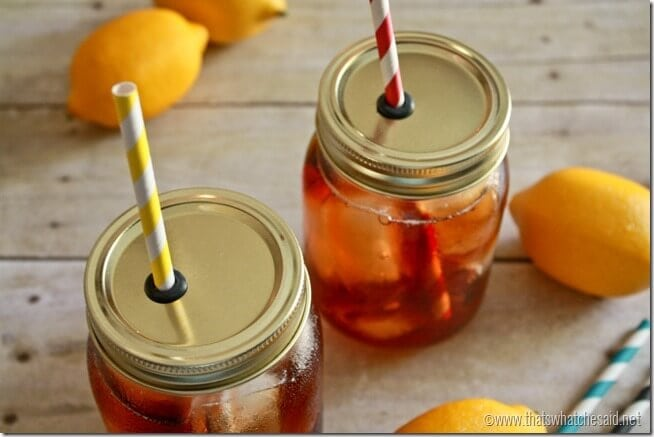 DIY Mason Jar Straw Lids at thatswhatchesaid.net