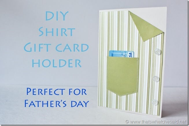 DIY Shirt Gift Card Holder