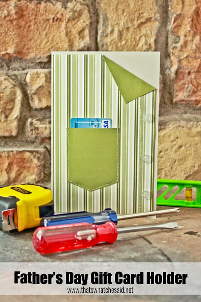 Fathers day Gift card holder Shirt Card at thatswhatchesaid.net