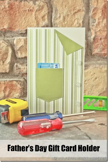 Fathers day Gift card holder