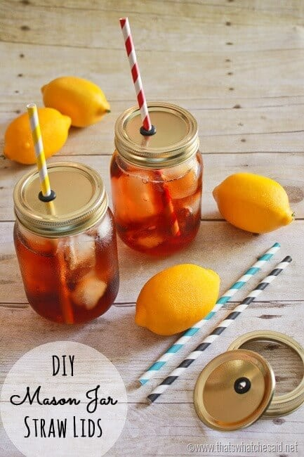 Mason Jar Straw Lids | Fall DIY Picnic Food Ideas And Crafts To Do This Weekend