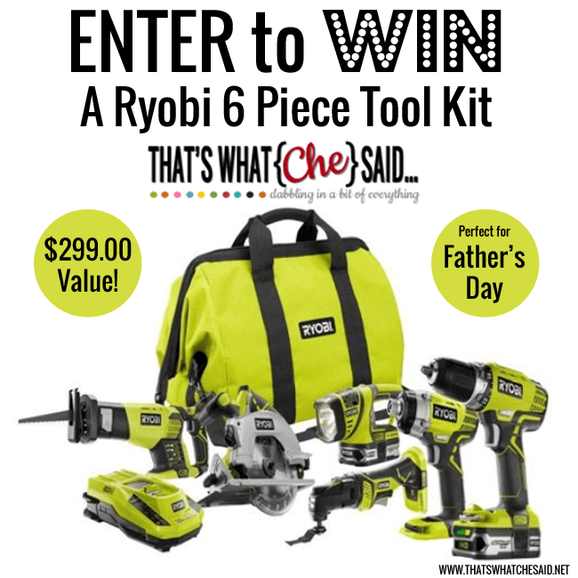 Ryobi Tools Giveaway at thatswhatchesaid.net