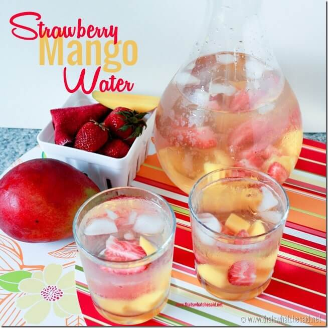 Strawberry Mango Flavored Water