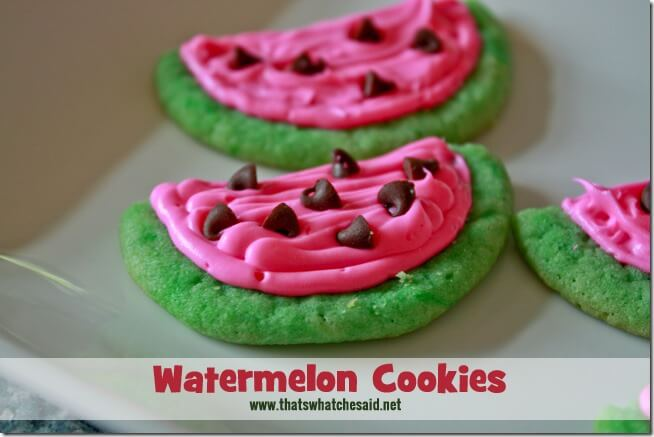 Watermelon Cookies at thatswhatchesaid.net