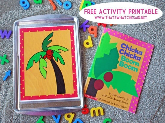 FREE Chicka Chicka Boom Boom Activity Printable at thatswhatchesaid.net