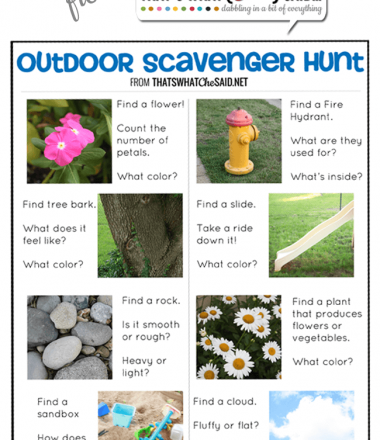 Free Kid's Activity Printable at thatswhatchesaid.net