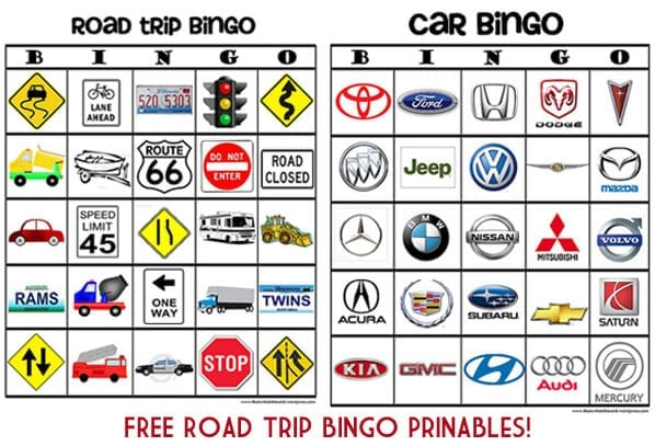 Free Road Trip Bingo Printables at thatswhatchesaid.net