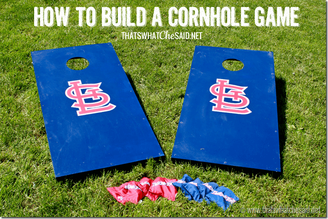 How to build a cornhole game at thatswhatchesaid.net