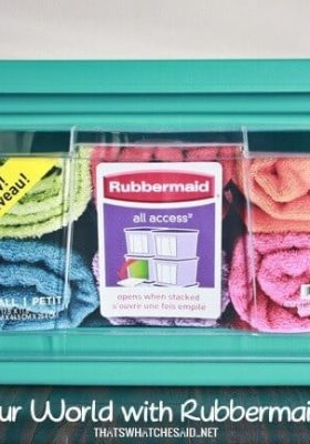 How-to-organize-with-Rubbermaid-all-access-storage-bins