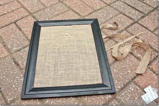 Burlap Backed Frame