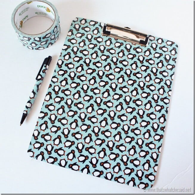 Duck Tape Clipboards
