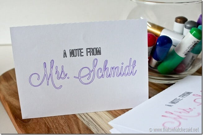 How to make your own Note Cards