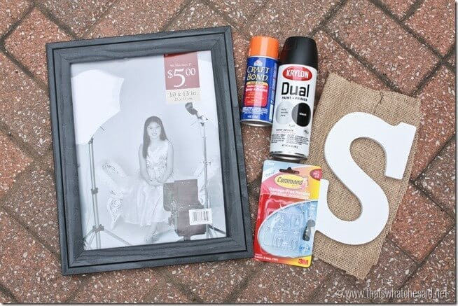 Monogrammed Frame Supplies