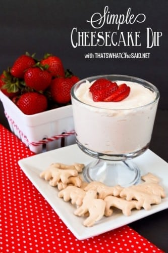 Simple Cheesecake Dip Recipe. So delicious!