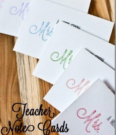 DIY Notecards with Silhouette Sketch Pens