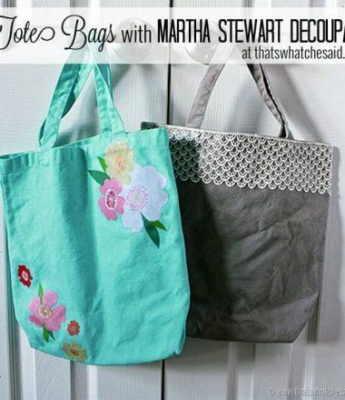 Decoupage Tote Bags