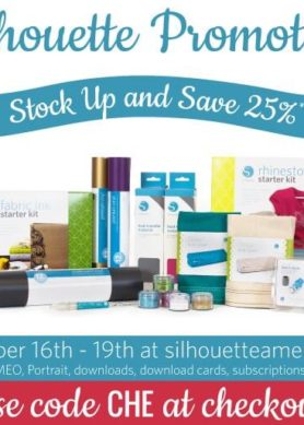 Silhouette 25% off Sale with code CHE