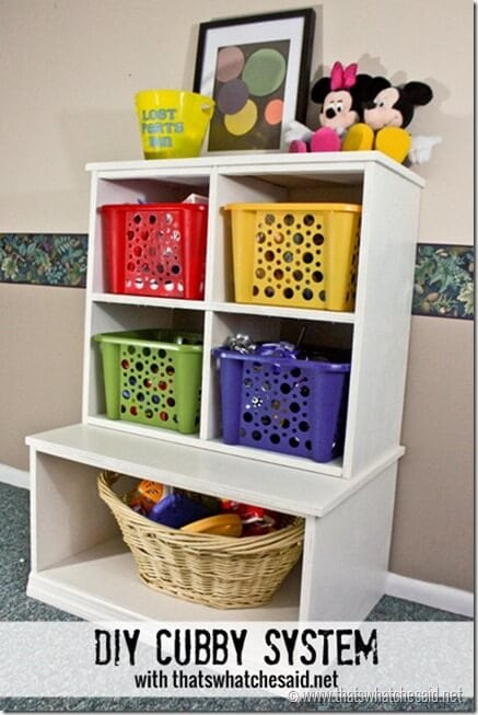 DIY Cubby System at thatswhatchesaid.net