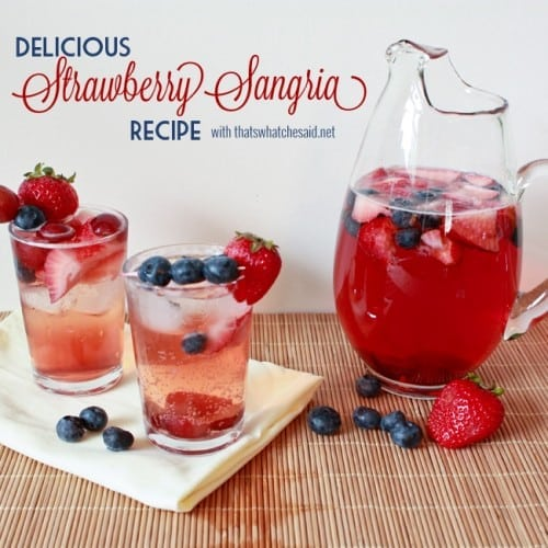 Easy Strawberry Sangria Recipe