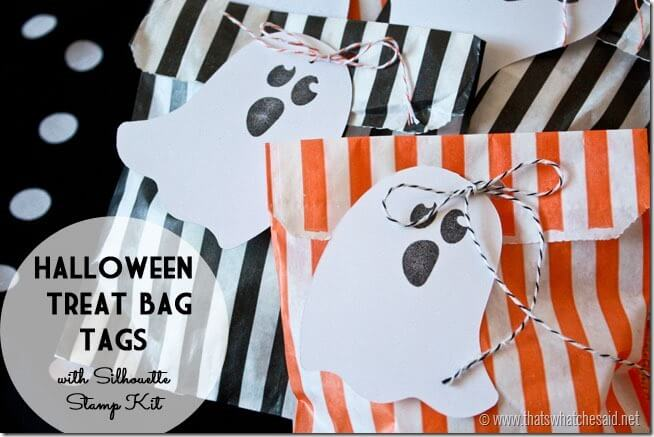 Halloween Treat Bags with Silhouette Stamp Kit