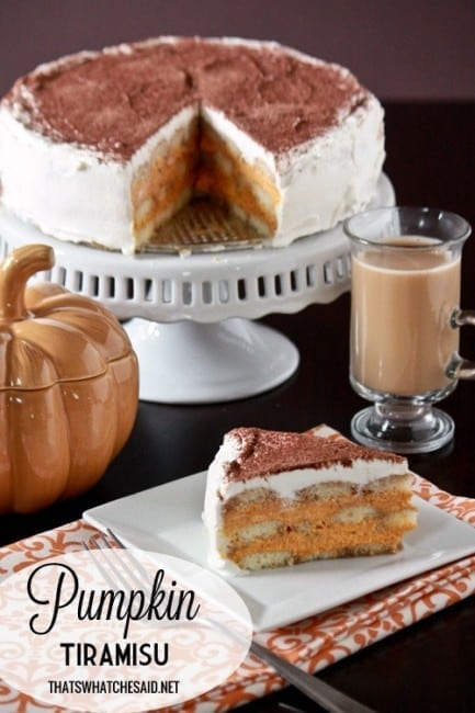 Pumpkin Tiramisu Recipe at thatswhatchesaid.com