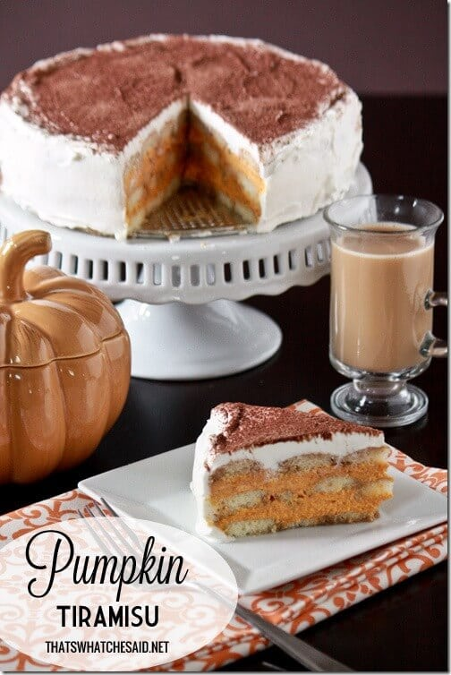 Pumpkin Tiramisu with thatswhatchesaid.net