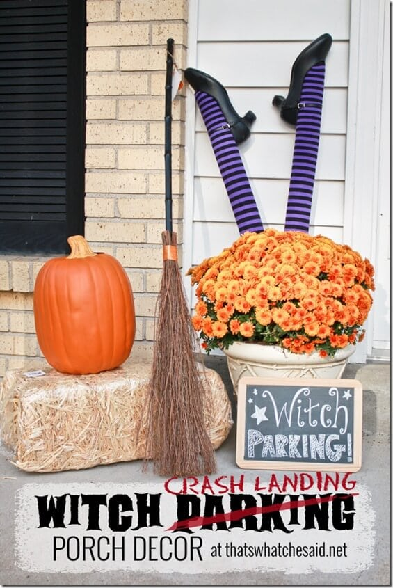 Witch Crash Landing Parking Porch Display