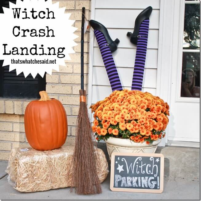 Witch Parking Crash Landing Porch Display
