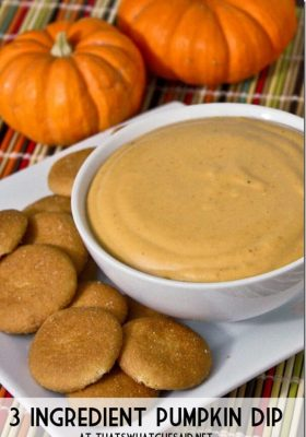 3 Ingredient Pumpkin Dip Recipe at thatswhatchesaid.net_