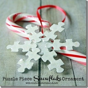 Puzzle Piece Snowflake Ornament at thatswhatchesaid.net