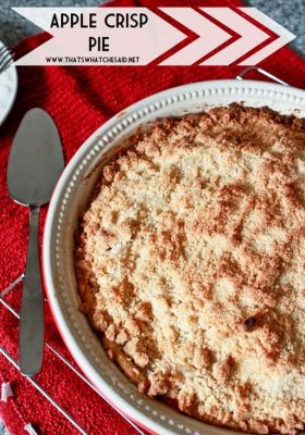 Apple Pie with an Apple Crisp Topping