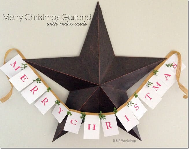 DIY Merry Christmas Garland