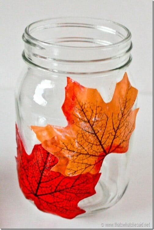 Decoupage_Leaf_Candle_thatswhatchesaid.net_