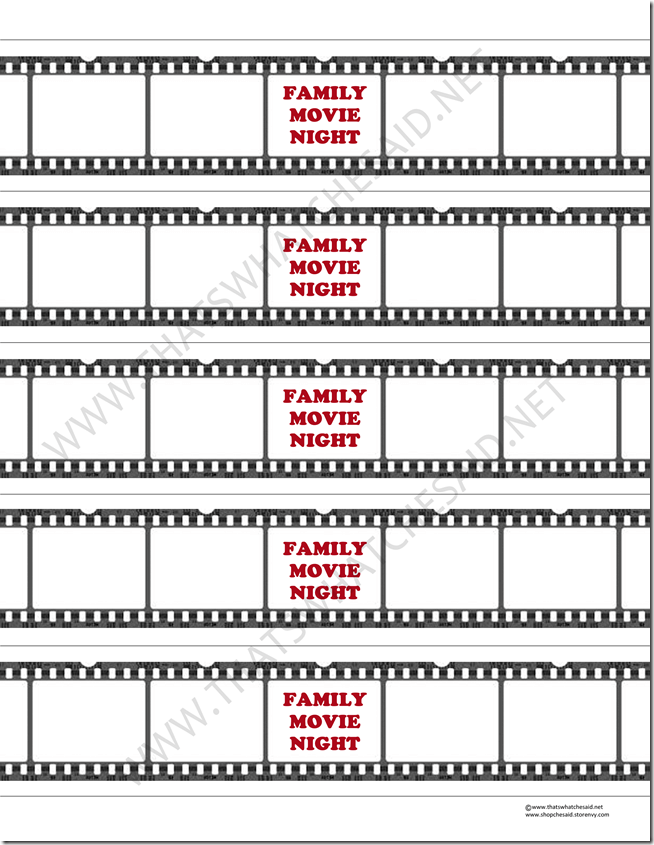 Family Movie Night Water Bottle Labels #shop #owndisneyplanes