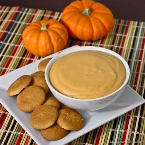 Easy pumpkin dip recipe with only 3 ingredients!
