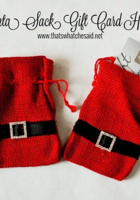 Santa Sack Gift Card Holders from thatswhatchesaid.net
