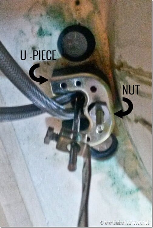 Install U Piece to secure new faucet