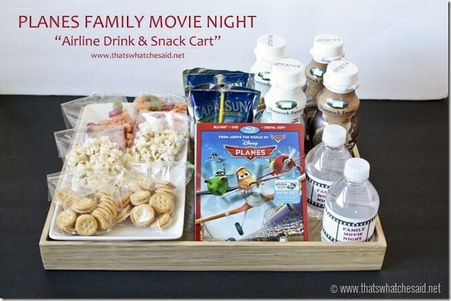 #shop Disney Planes Family Movie Night Drink Cart at thatswhatchesaid.net #OwnDisneyPlanes #cbias