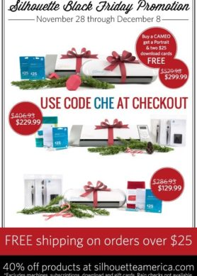 Silhouette Black Friday Deals + Cookies for Santa Plate!