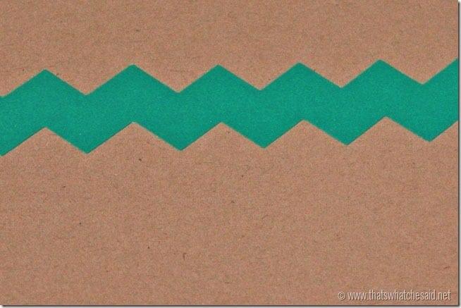 Chevron Washi Tape Handmade gift tag
